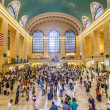 View of commuters and tourists flood the grand central station — Stock Photo