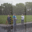 Постер, плакат: Names of Vietnam war casualties at Veterans Memorial