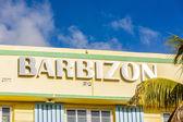 Barbizonská hotel v ocean drive v miami beach — Stock fotografie
