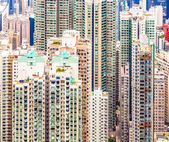 Panoramic Skyline of Hong Kong City from the Peak — Stock Photo