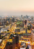 View across Bangkok skyline in the evening — Stock Photo
