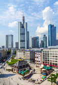 view to skyline of Frankfurt with Hauptwache — Stok fotoğraf