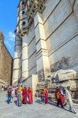 Människor besöka meherangarh fort - jodhpur - indien — Stockfoto