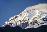 Snow capped Antisana Volcano, Ecuador — Stock Photo
