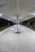 Boş istasyonu sabah karanlık — Stok fotoğraf