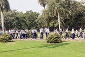 School class visits Humayun's Tomb in Delhi — Stock Photo