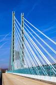 Bridge of an Industry Park in beautiful landscape near Frankfurt — Stock Photo
