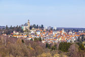 View to old town and castle of Kronberg — Stock Photo