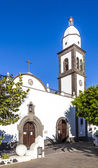 The beautiful church of San Gines in Arrecife with its white-was — Stok fotoğraf