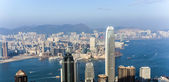 Hong Kong view from Victoria Peak to the skyline — Stock Photo