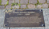 Memorial plate of Robert Wilhelm Bunsen in Heidelberg — Stock Photo