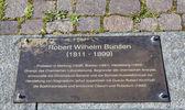 Memorial plate of Robert Wilhelm Bunsen in Heidelberg — Stock Photo