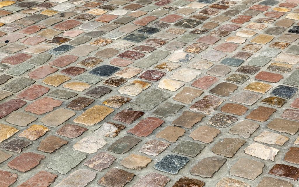 Antigua calle de piedra de adoqu n foto de stock for Adoquines de piedra precios