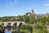 Old Lahn bridge and view to Wetzlar dome — Стоковое фото