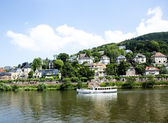 River cruise ship on the Neckar — Stock Photo