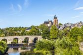 Old Lahn bridge and view to Wetzlar dome — 图库照片