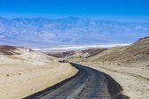 Driving on the Interstate 187 in Death valley  — Stock Photo