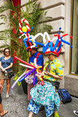 People celebrate Bastille festival in 60th street in New York — Стоковое фото