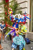 People celebrate Bastille festival in 60th street in New York — Stock Photo