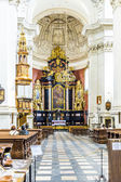 People visit the the Church of Saints Peter and Paul in Old Town — Stock Photo