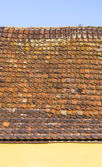 Roof tile pattern over blue sky  — Stock Photo