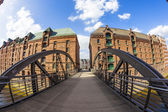 Speicherstadt (Warehouse district) in Hamburg, Germany  — Stock Photo