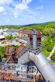 Old iron works monuments in Neunkirchen — Stock Photo