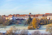 Old medieval town wall build of half timbred houses in Idstein W — Stock Photo