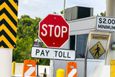 Toll Road sign at a toll bridge in Texas — Stock Photo