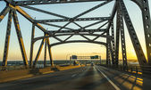 view of the Baton Rouge bridge on Interstate Ten over the Miss — Stock Photo