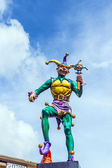 Jester in New Orleans at the river walk area — Stock Photo