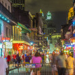 People on the move in the Burbon street at night in the French q — Stock Photo #49710721