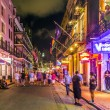 People on the move in the Burbon street at night in the French q — Stock Photo #49710745