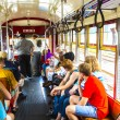 People travel with the famous old Street car St. Charles line  — Stock Photo #49713163