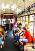 People travel with the famous old Street car St. Charles line  — Stock Photo