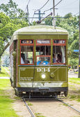 Famous old Street car St. Charles line — Stock Photo