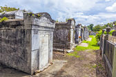 Lafayette cemetery in New Orleans with historic Grave Stones — Stock Photo