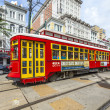 Passengers travel with the street car at Canal street downtown N — Stock Photo #49721411