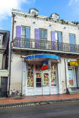 Sex shops in old historic building in the French Quarter — Stock Photo