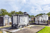 Lafayette cemetery in New Orleans with historic Grave Stones  — Foto Stock