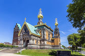 Orthodox russian chappel Darmstadt under blue sky — Stock Photo
