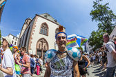 People at christopher street day in Frankfurt — Stock Photo