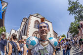 People celebrate Christopher Street day in Frankfurt — Stock Photo