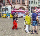 People at Christopher Street das in Frankfurt — Stock Photo