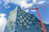 concert hall Elbphilharmonie under construction — Stockfoto