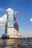 concert hall Elbphilharmonie under construction — Stock Photo