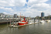 Famous Lightship LV 13 serves nowadays as Restaurant in Hamburg — Photo
