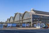 Outside the Frankfurt central station — Stok fotoğraf
