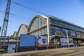 Outside the Frankfurt central station — Foto Stock
