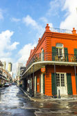 Eople visit historic building in the French Quarter — Stock Photo